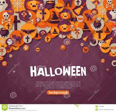 halloween photo backdrop halloween banner with flat icons on orange backdrop stock vector