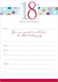 18th birthday invitations free templates free printable birthday