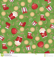 vector seamless christmas pattern background with santa claus
