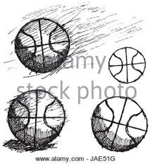 ball sketch set with shadow and dynamic effect on blackboard stock