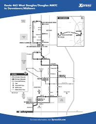 Utc Mall Map Route 463 U2013 West Douglas Douglas Mmtc To Downtown Midtown Xpress