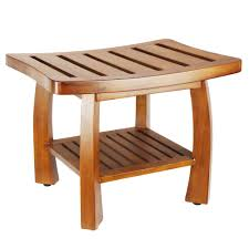 Bathroom Stool Storage Oceanstar 17 In X 23 75 In Solid Wood Spa Bench With Storage