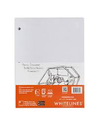 writing white paper whitelines writing paper and notebooks with white lines engineering pad 8 5 x 11 squared