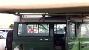Car Roof Box Ebay by Hannibal 2 4m Roof Rack And Awning On A Land Rover Defender Youtube