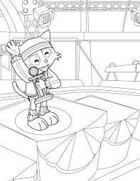 gymnast coloring page handipoints