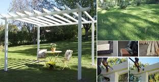 How To Build A Simple Pergola by How To Build A Pergola The Skilsaw Pergola Home Design Garden