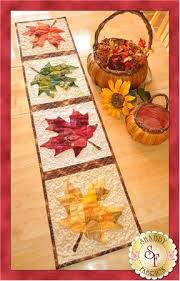 patchwork maple leaf table runner pattern table runner pattern