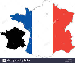 France On A World Map by White Map Of France On A Black Background Stock Vector Art