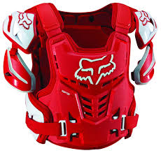 red dirt bike boots fox racing raptor vest ce size sm md only revzilla