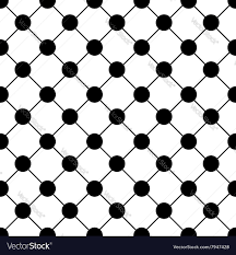 Chess Board Design Black Polka Dot Chess Board Grid White Royalty Free Vector