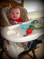 High Chair 3 Months August 2009 A Dollop Of My Life