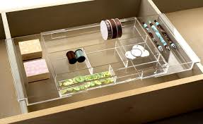 Acrylic Desk Drawer Organizer Expandable Makeup Vanity Hanging Drawer Organizer