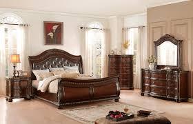 homelegance chaumont upholstered sleigh bedroom set burnished