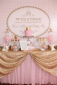 Royal Crown Centerpieces by Creative Princess Party Ideas Crown Cake Table Covers And Backdrops