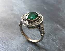 emerald antique rings images Antique ring etsy jpg