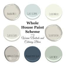 a pretty and fresh whole home paint color scheme using warm
