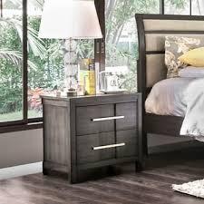furniture of america telke contemporary wood veneer 2 drawer