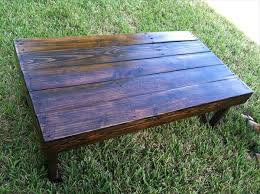 Stained Coffee Table Diy Dark Stained Pallet Coffee Table Pallet Furniture Plans