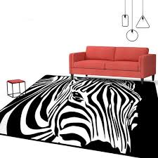 Black And White Modern Rug Geometric Black White Zebra Striped Carpet Living Room Bedroom