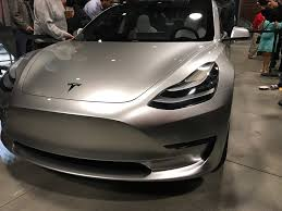tesla model 3 interi model 3 shows glass roof shots and new steering at tesla q3 party