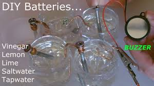 5 batteries vinegar lemon lime salt water diy run