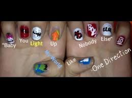 tutorial nail art one direction one direction what makes you beautiful nail art tutorial youtube