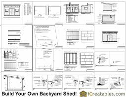 12x16 studio shed plans center door