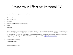Effective Resume Templates Personal Resume Template My New Personal Resume Resume Template