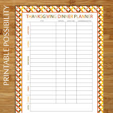 thanksgiving dinner planner potluck dinner planner meal