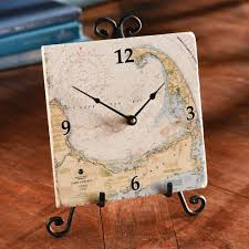 Nautical Metal Wall Art Great by Custom Nautical Tile Clock National Geographic Store