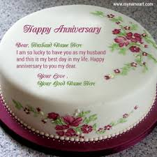 wedding wishes editing write husband name on cake image for anniversary wishes wishes