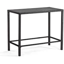 Zuo Modern Bar Table Zuo Modern Anguilla 4 Person Patio Bar Set With Glass Top Table
