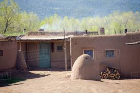 nm new mexico taos pueblo inhabited for 1000 years south house