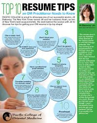 tips for the best resume tips for a resume free resume example and writing download top 10 resume tips an om practitioner needs to know by pcom alumna jill