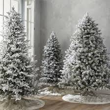flocked spruce artificial trees with meteor