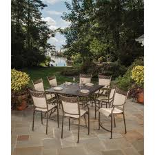 Bali Wicker Outdoor Furniture by Wicker Patio Furniture Hampton Bay Bar Height Dining Sets