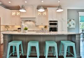 blue bar stools kitchen furniture furnitures contemporary kitchen with large gray kitchen island