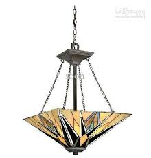 Stained Glass Pendant Light Style Stained Glass Pendant Light With 3 Lights Living