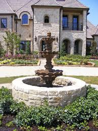exterior cool outdoor garden exterior design with cantera water