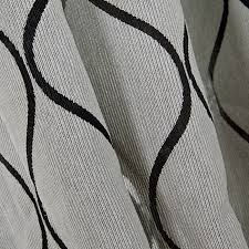 And Black Fabric For Curtains Style Grey Chenille Fabric Black Lines Pattern Cool Curtains