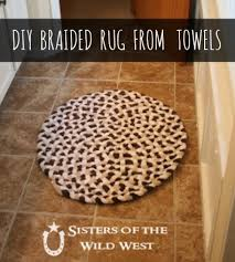 How To Make Braided Rug Diy Braided Rug From Towels