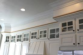 how to add crown molding to kitchen cabinets amy u0027s casablanca kitchen soffit transformation