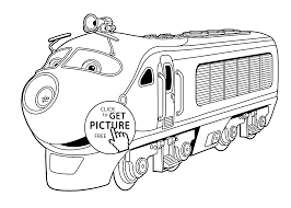 chuggington coloring pages koko for kids printable free coloing