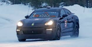 electric porsche panamera 2018 porsche cayenne coupe spied again could get all electric