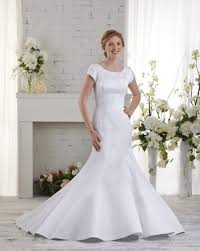 short sleeve scoop court train satin trumpet mermaid wedding dress