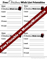 christmas wish list free christmas wish list printables moment