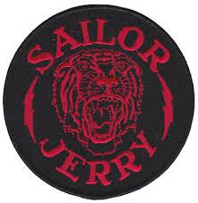 sailor jerry tiger bolt patch sourpuss clothing