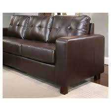 claire leather reversible sectional and ottoman taylor leather sectional and ottoman espresso abbyson living