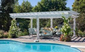 White Vinyl Pergola by Artisan Vinyl Pergolas River View Outdoor Products