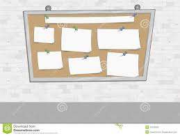 white brick wall with papers on a big board stock photos image